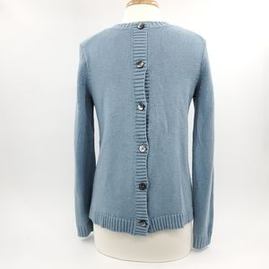 J Jill | Buttoned Back Pullover Sweater XS Blue